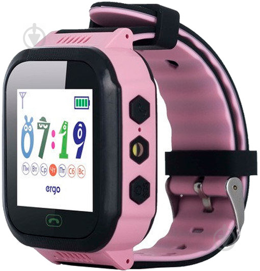 Смарт-годинник Ergo GPS Tracker Color J020 дитячий трекер pink (GPSJ020P) - фото 1