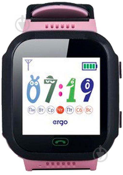 Смарт-годинник Ergo GPS Tracker Color J020 дитячий трекер pink (GPSJ020P) - фото 2