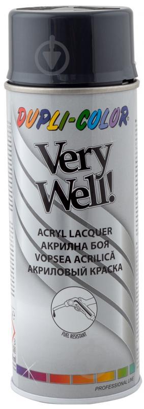 Эмаль аэрозольная Dupli-Color Very Well RAL 7016 антрацитово-серый глянец 400 мл - фото 1