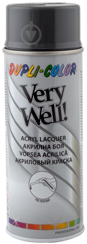 Эмаль аэрозольная Dupli-Color Very Well RAL 7043 транспортно-серый глянец 400 мл - фото 1