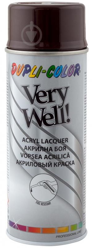 Эмаль аэрозольная Dupli-Color Very Well RAL 8017 шоколадно-коричневый глянец 400 мл - фото 1
