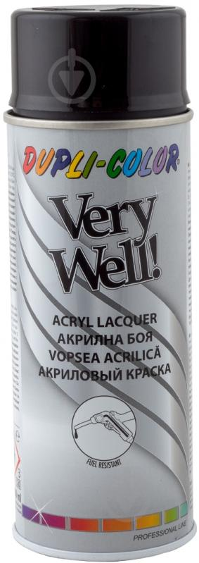 Эмаль аэрозольная Dupli-Color Very Well RAL 9005 черный глянец 400 мл - фото 1