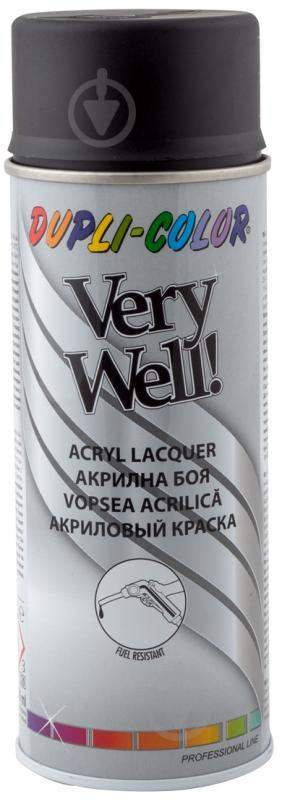 Эмаль аэрозольная Dupli-Color Very Well RAL 9005 черный мат 400 мл - фото 1