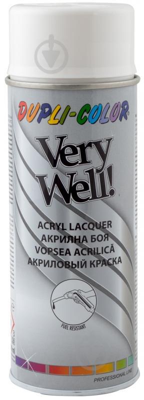 Емаль аерозольна Dupli-Color Very Well RAL 9010 біла глянець 400 мл - фото 1