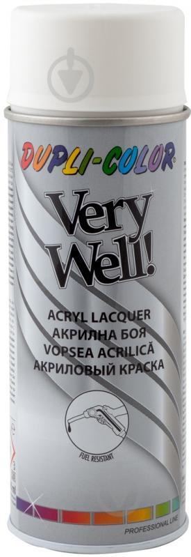 Эмаль аэрозольная Dupli-Color Very Well RAL 9010 белый мат 400 мл - фото 1
