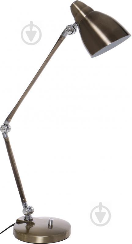 Настольная лампа офисная Геотон ННБ 01-40-300 МТ 7020 1x60 Вт E27 бронзовый - фото 1
