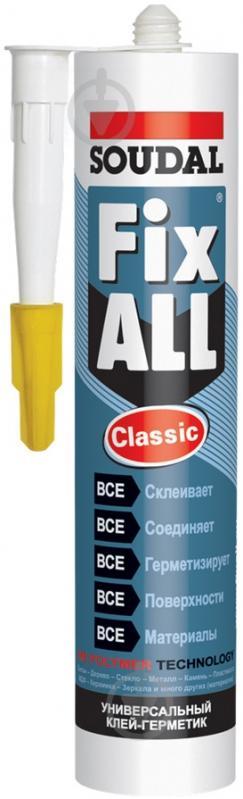 Клей-герметик SOUDAL FIX ALL Classic 290 мл білий - фото 1