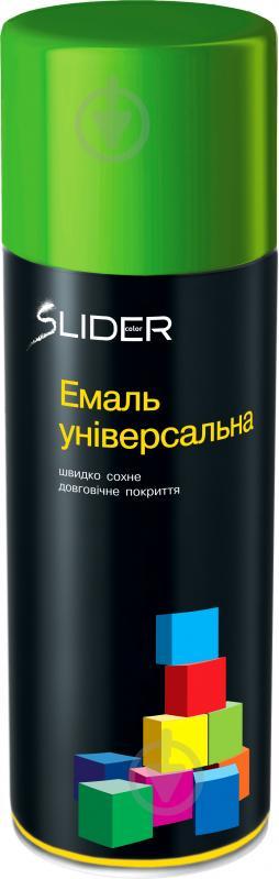 Эмаль аэрозольная RAL6018 SLIDER салатный глянец 400 мл - фото 1