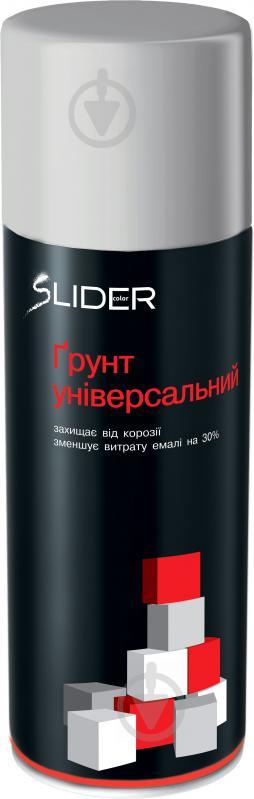 Ґрунт аерозольний SLIDER сірий мат 400 мл - фото 1