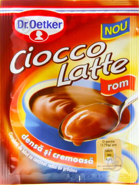 Горячий шоколад Dr. Oetker Ciocco Latte со вкусом рома 25 г (5941132015775) - фото 1