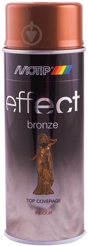 Фарба аерозольна Motip Deco Effect з ефектом бронзи античне золото 400 мл - фото 1