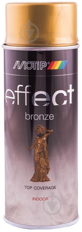 Фарба аерозольна Motip Deco Effect з ефектом бронзи золото 400 мл - фото 1