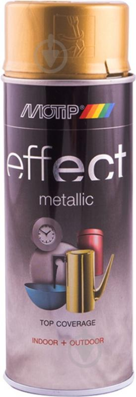 Фарба аерозольна Motip Deco Effect з ефектом металік золотой діамант 400 мл - фото 1