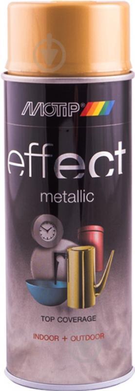 Краска аэрозольная Motip Deco Effect с эффектом металлик настоящее золото 400 мл - фото 1