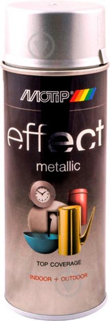 Фарба аерозольна Motip Deco Effect з ефектом металік срібний 400 мл - фото 1