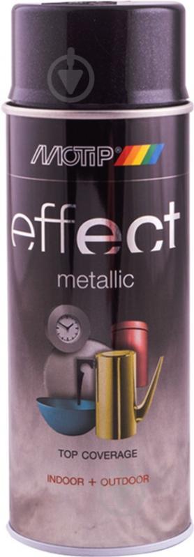 Фарба аерозольна Motip Deco Effect з ефектом металік чорний 400 мл - фото 1