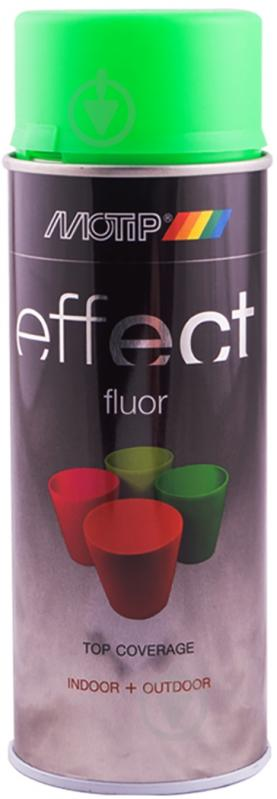 Краска аэрозольная Motip Deco Effect флуоресцентная зеленый 400 мл - фото 1