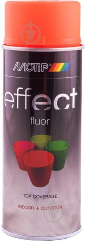 Фарба аерозольна Motip Deco Effect флуоресцентна червоно-помаранчевий 400 мл - фото 1