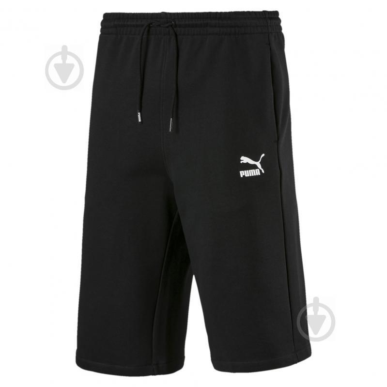 Шорты Puma Classics Logo Shorts 12' 57796301 р. S черный - фото 1