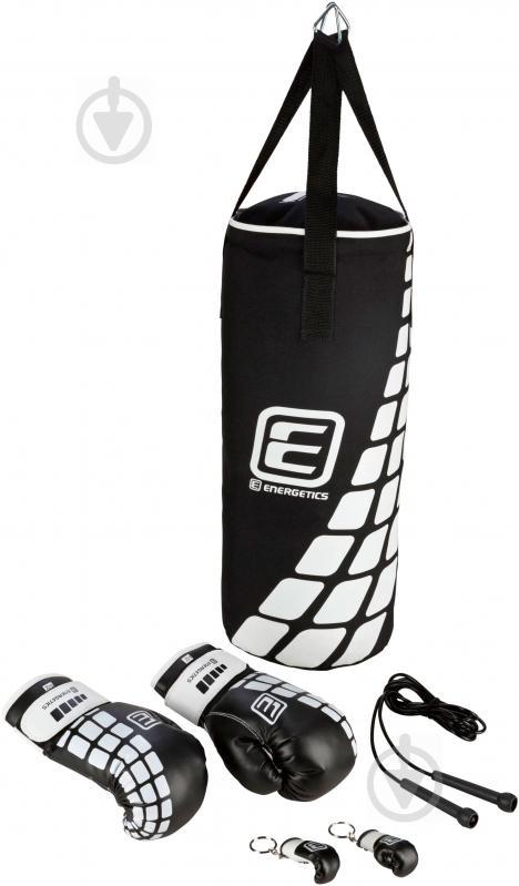 Дитячий боксерський набір Energetics 60x25 см 225506 Boxing Set Junior чорний із білим - фото 1