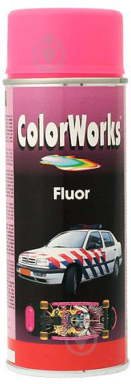 Эмаль аэрозольная Fluor ColorWorks розовый 400 мл - фото 1