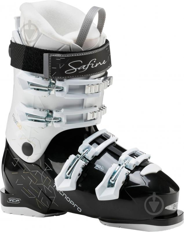 Ботинки горнолыжные TECNOPRO Safine Pearl р. 22,5 253472 черный с белым - фото 1