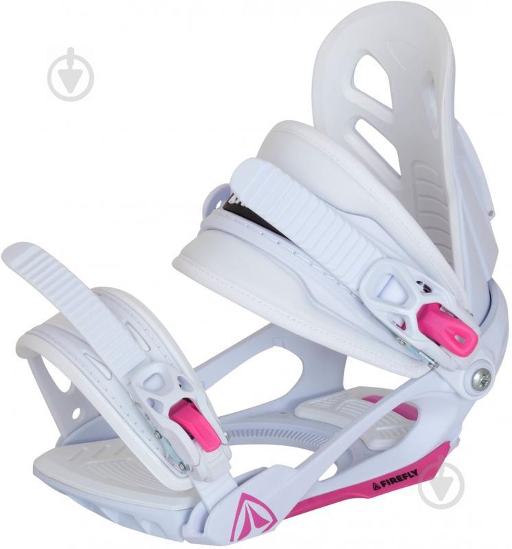 Крепеж для сноуборда р. S бело-розовый Firefly 195242 - фото 1