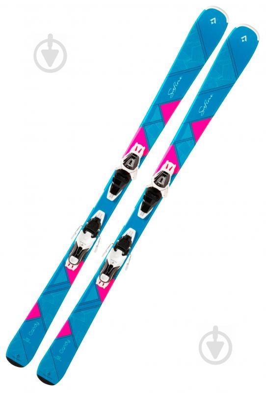 Лыжи TECNOPRO Safine Candy ET 270552 + LT100 W B80 241294 160 см голубой с розовым - фото 1