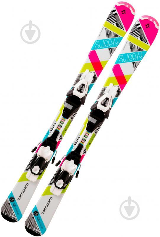 Лыжи TECNOPRO Sweety 226335 + TL75 B80 224586 120 см бирюзовый - фото 1