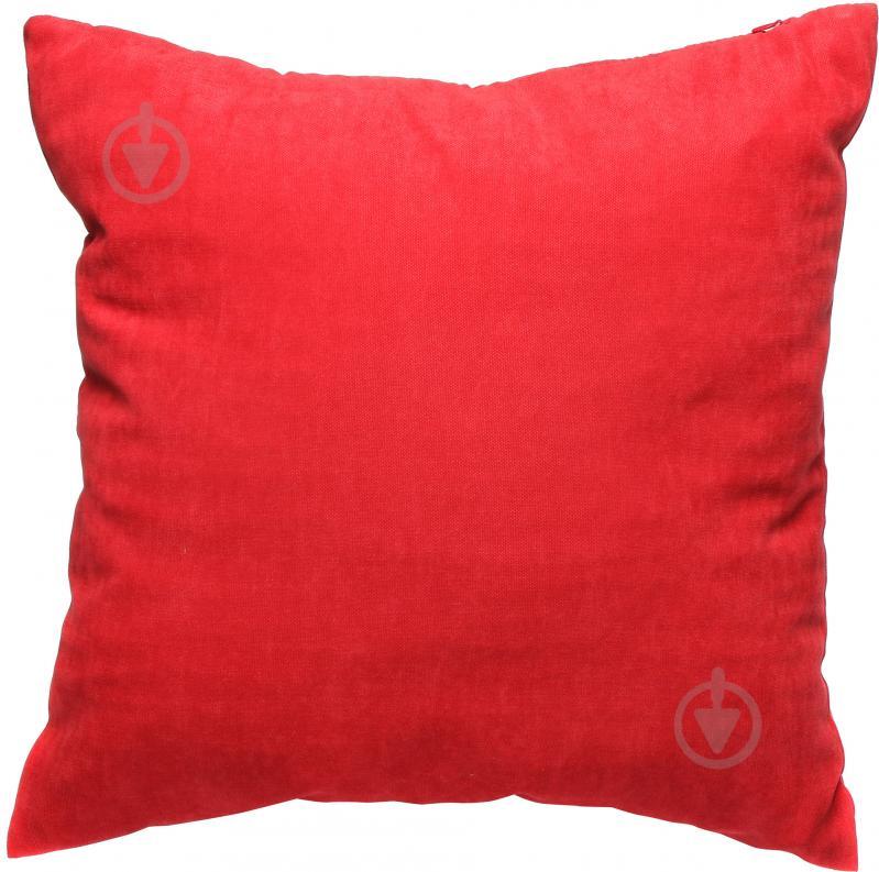 Подушка декоративна 45x45 см червоний - фото 1