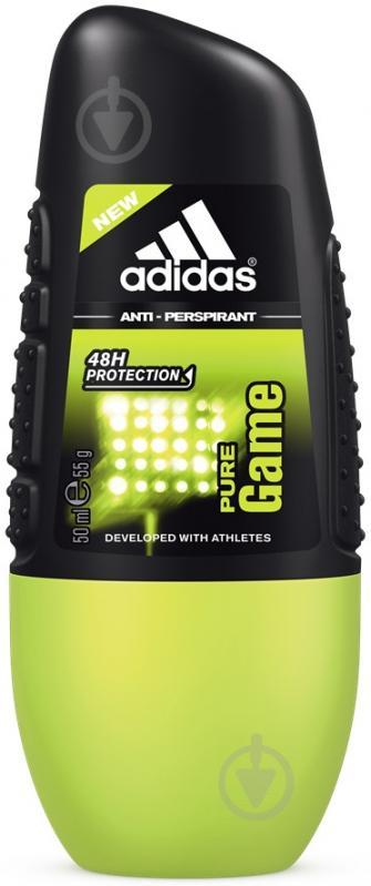 Антиперспирант для мужчин Adidas Pure Game Sport Sensations 50 мл шариковый - фото 1