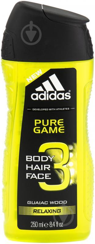 Гель для душа Adidas Pure Game 3 в 1 250 мл - фото 1