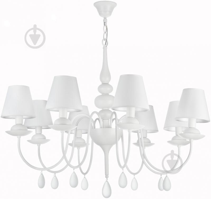 Люстра підвісна Victoria Lighting 8x40 Вт E14 білий Belladonna - фото 1