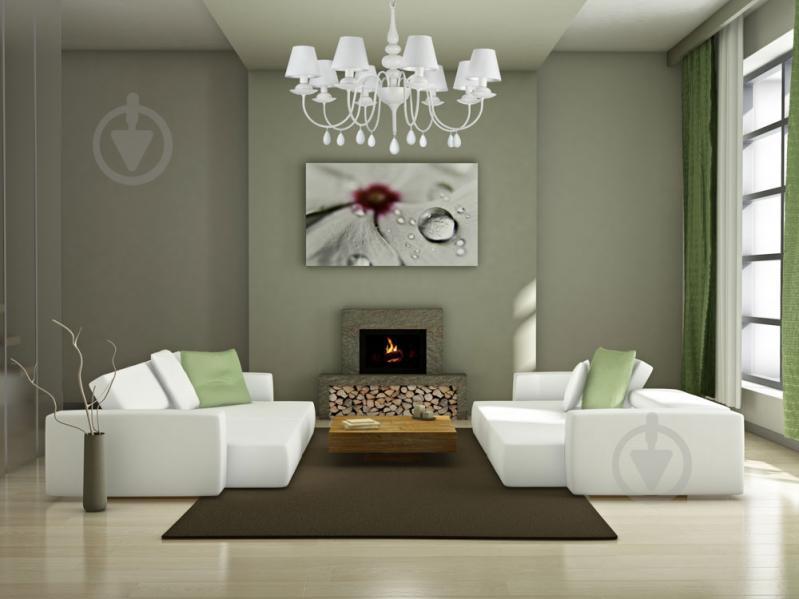 Люстра підвісна Victoria Lighting 8x40 Вт E14 білий Belladonna - фото 2