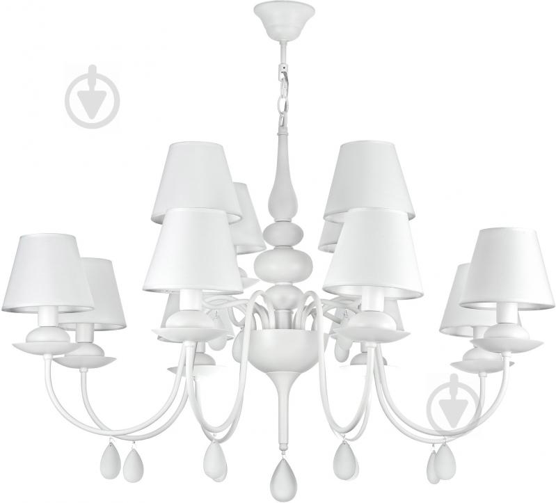 Люстра підвісна Victoria Lighting 12x40 Вт E14 білий Belladonna - фото 1