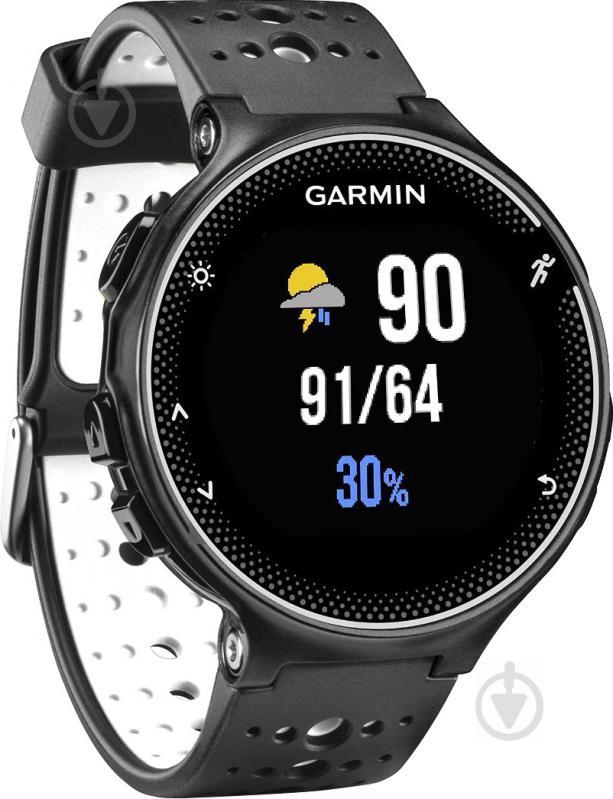 ᐉ Смарт-годинник Garmin Forerunner 230 black white • Краща ціна в ... 76d0db0071401