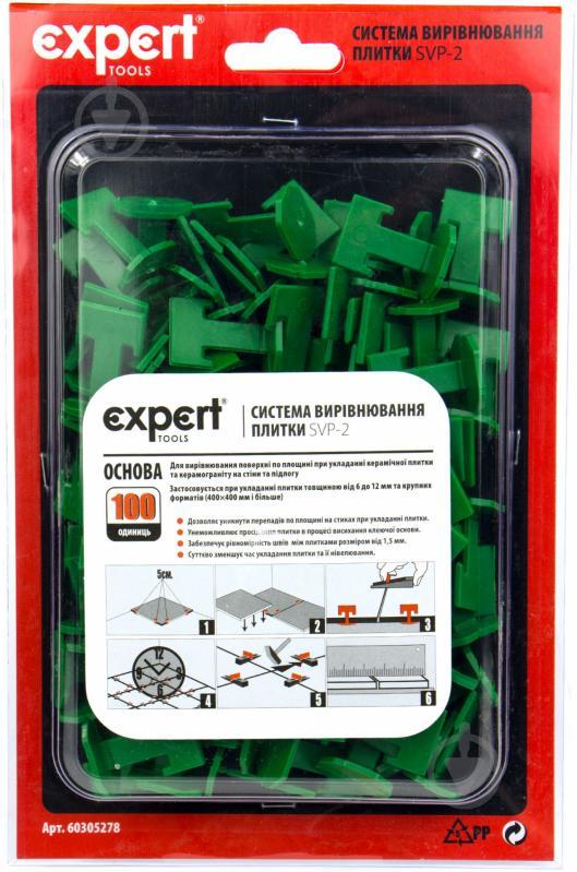 Система вирівнювання плитки Expert Tools основа 6 мм 100 шт./уп - фото 2
