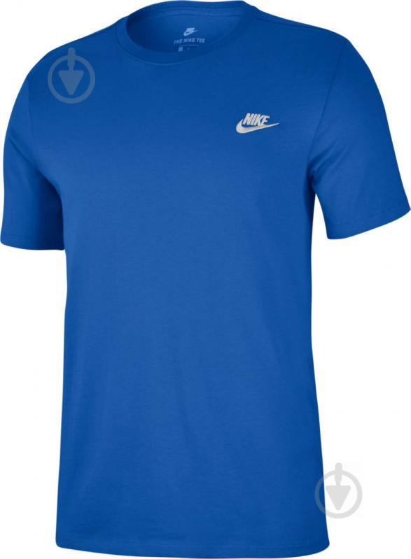 bed4addd Футболка Nike M NSW TEE CLUB EMBRD FTRA 827021-463 S синий - фото 1