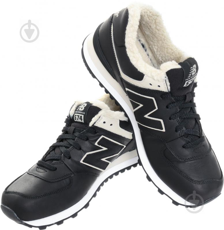 Ботинки New Balance 574 ML574BL р. 10,5 черный - фото 1
