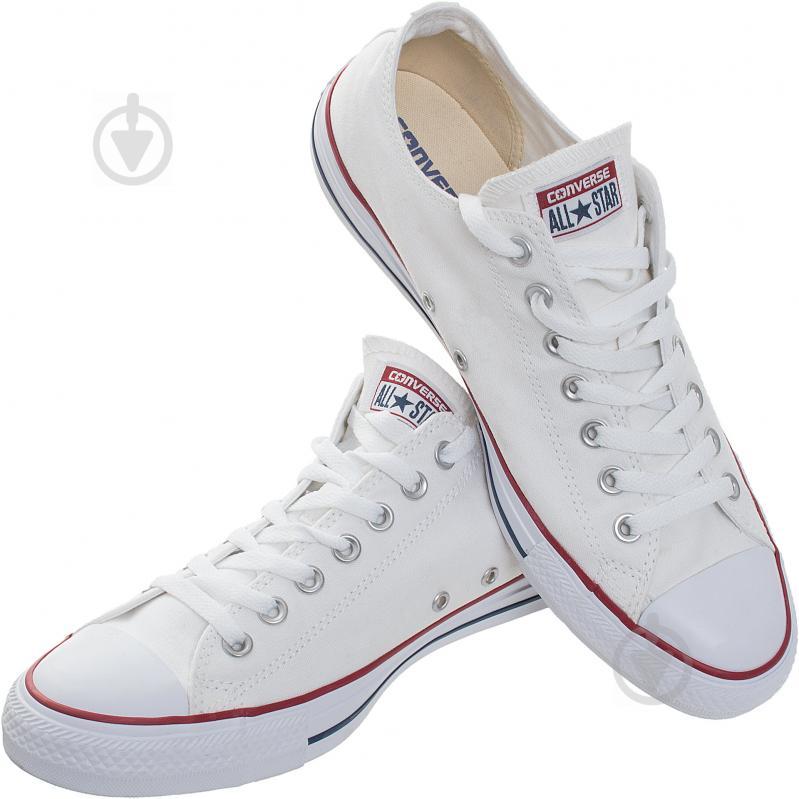 Кеды Converse Chuck Taylor Classic OX M7652C р. 9,0 белый - фото 1