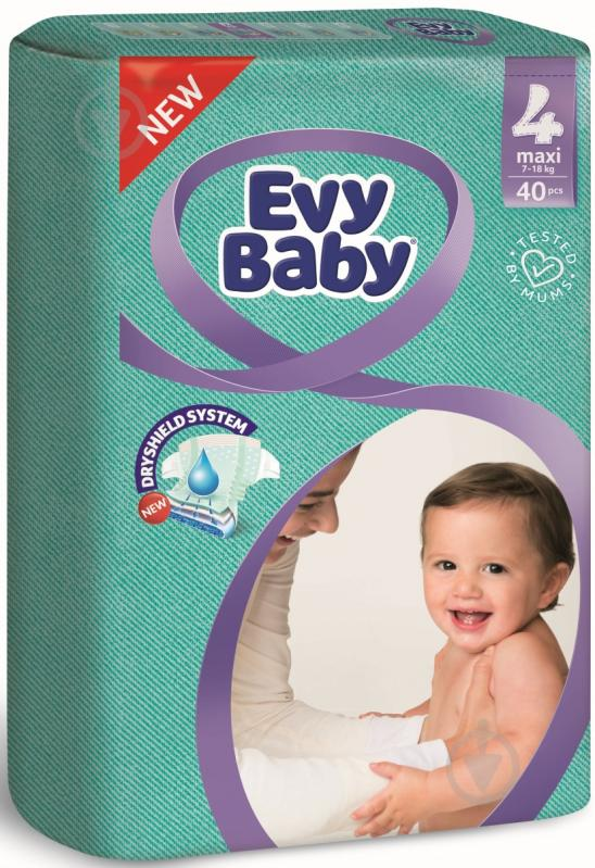 Підгузки Evy Baby економ упаковка 7-18 кг 40 шт. - фото 1