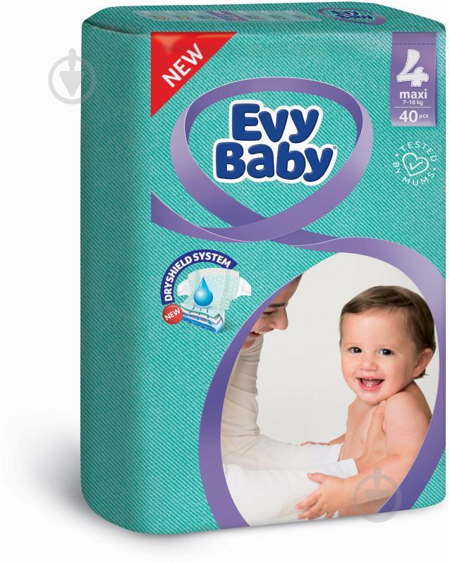 Підгузки Evy Baby економ упаковка 4 7-18 кг 40 шт. - фото 1