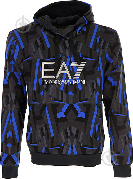 Джемпер EA7 р. XL голубой 6YPM71-PJF6Z-2526 - фото 5