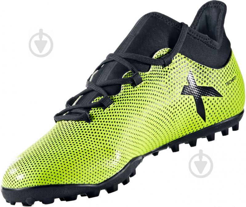 Футбольные бутсы Adidas X Tango TF CG3727 р. 9 зелено-черный - фото 1