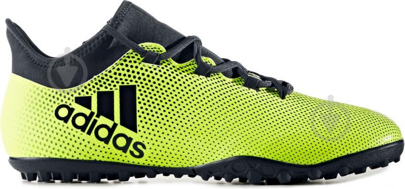 Футбольные бутсы Adidas X Tango TF CG3727 р. 9 зелено-черный - фото 4