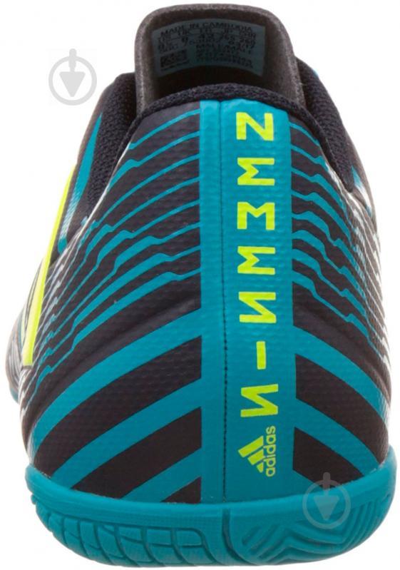 Футбольные бутсы Adidas Nemeziz IN S82472 р. 10 черно-синий с зеленым - фото 2
