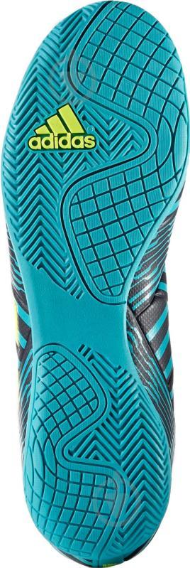Футбольные бутсы Adidas Nemeziz IN S82472 р. 10 черно-синий с зеленым - фото 6