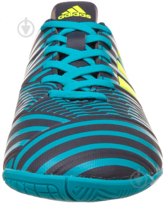 Футбольные бутсы Adidas Nemeziz IN S82472 р. 10 черно-синий с зеленым - фото 3