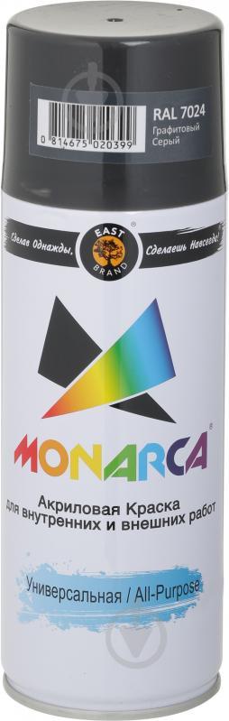 Краска MONARCA аэрозольная универсальная RAL 7024 графитовый серый глянец 270 г - фото 1