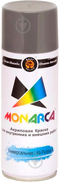 Краска MONARCA аэрозольная универсальная RAL 9006 алюминий глянец 270 г - фото 1